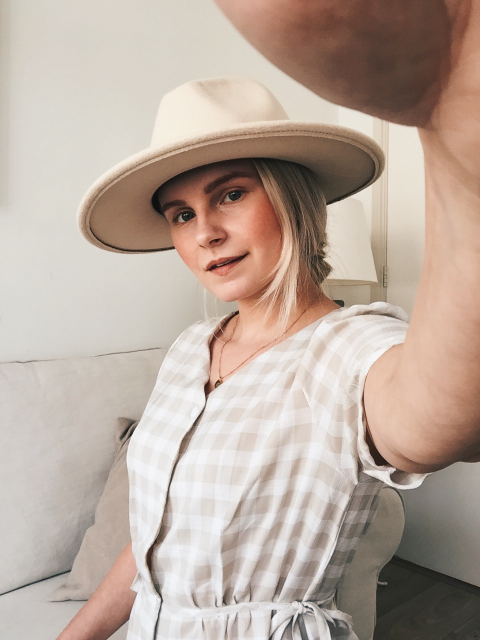ivory felt hat
