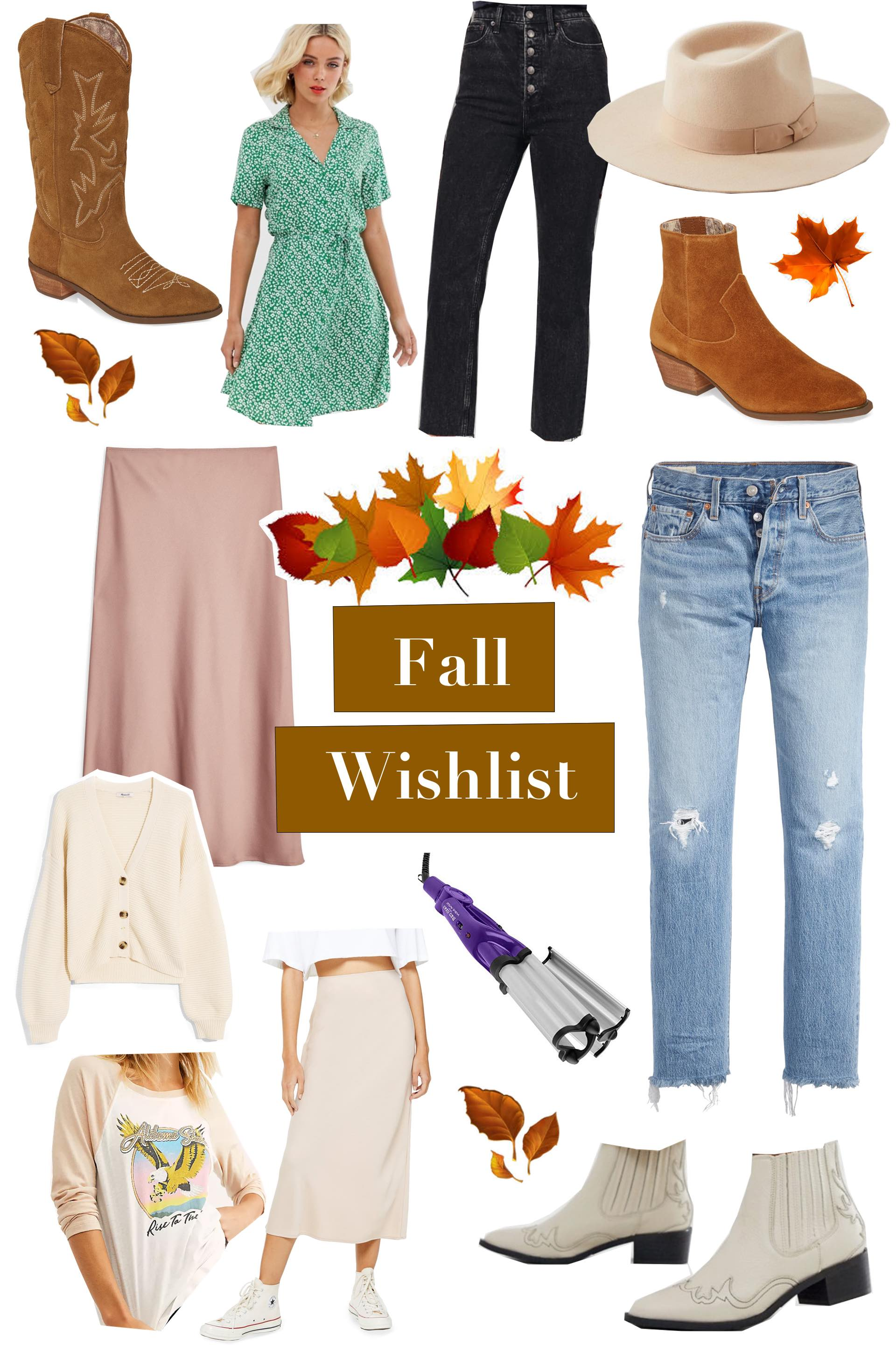 a list of trendy fall items