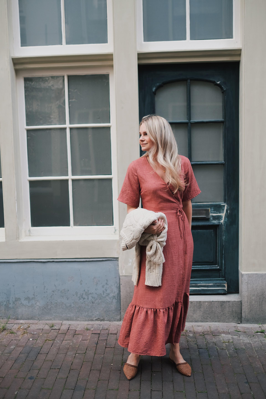 beautiful pink maxi dress